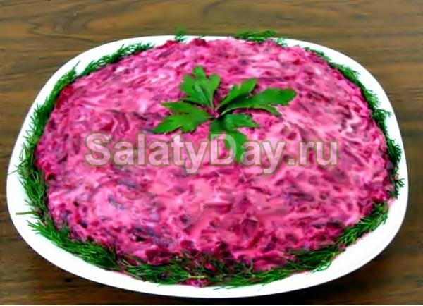 Салат «Слезы любви» со свининой