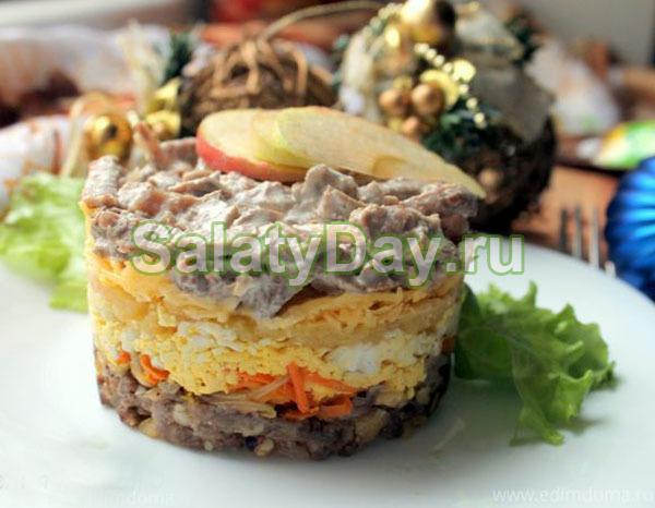 Салат подарок рецепт с курицей 19