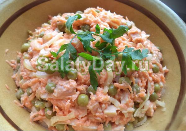 Салат подарок рецепт с курицей 56