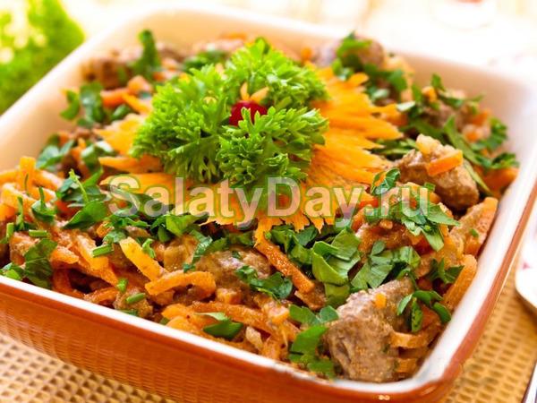 Салат подарок рецепт с курицей 80