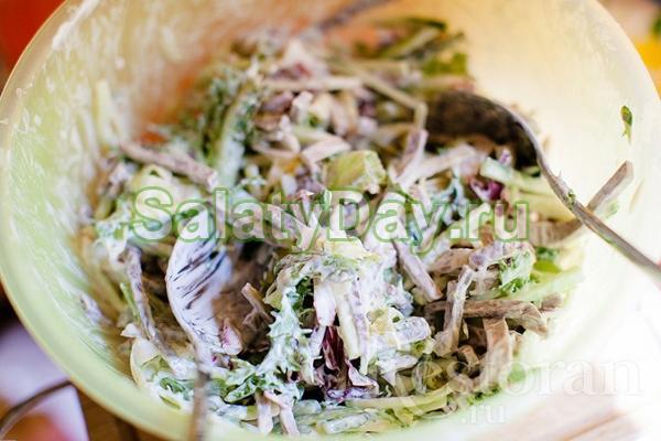 Мясные салаты с соленым огурцом рецепт с очень вкусный с