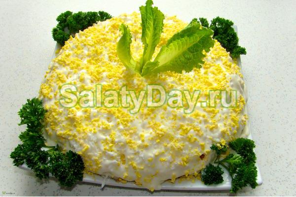 Приготовление салата мимоза фото