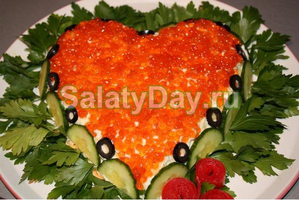 Салат «Царский» с плавлеными сырками