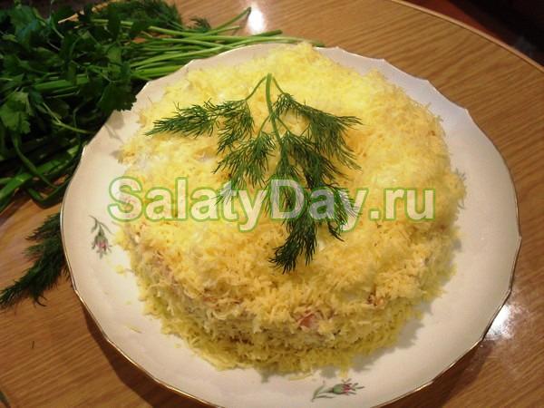 Салат сугроб пошаговое фото