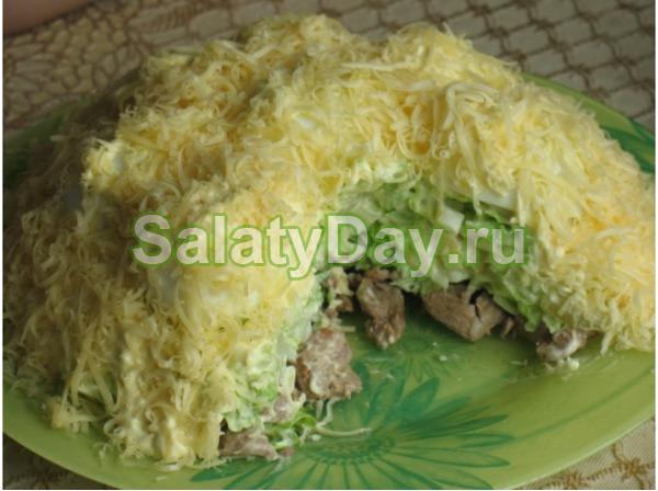 салат снежные сугробы рецепт с говядиной