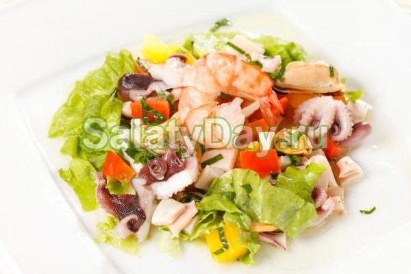 салат цезарь из королевских креветок рецепты