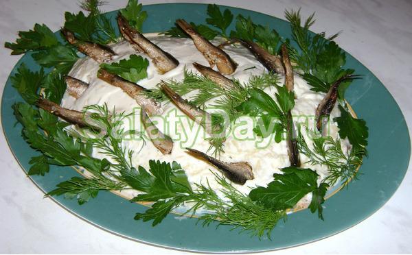 Салат шпрот рецепт фото