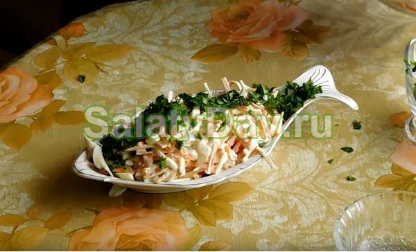 Салат царский рецепт с крабовыми палочками