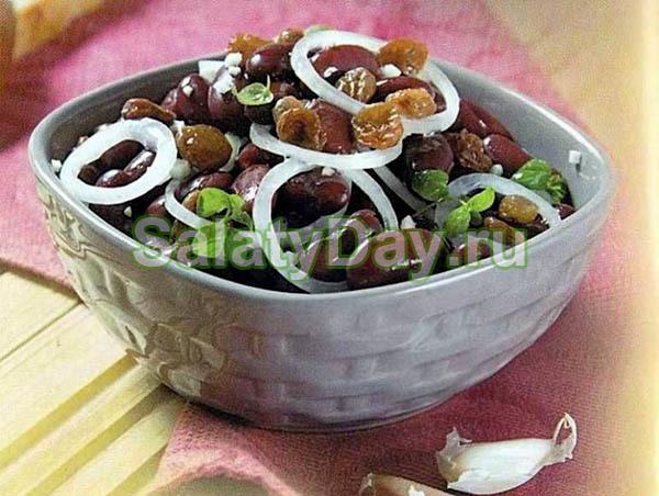 салат с красной фасолью рецепт с фото
