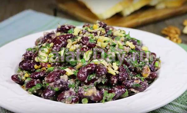Вкусные и недорогие салаты с красной фасолью