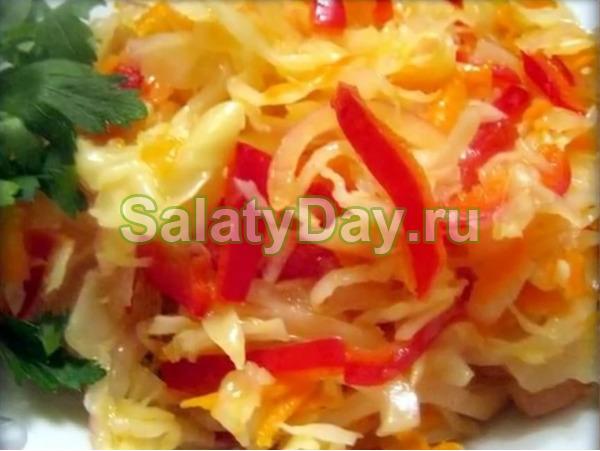 как приготовить салаты на зиму из капусты