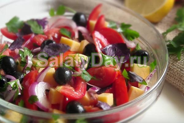 """Быстрый и вкусный салат с оливками """"Гармония"""""""
