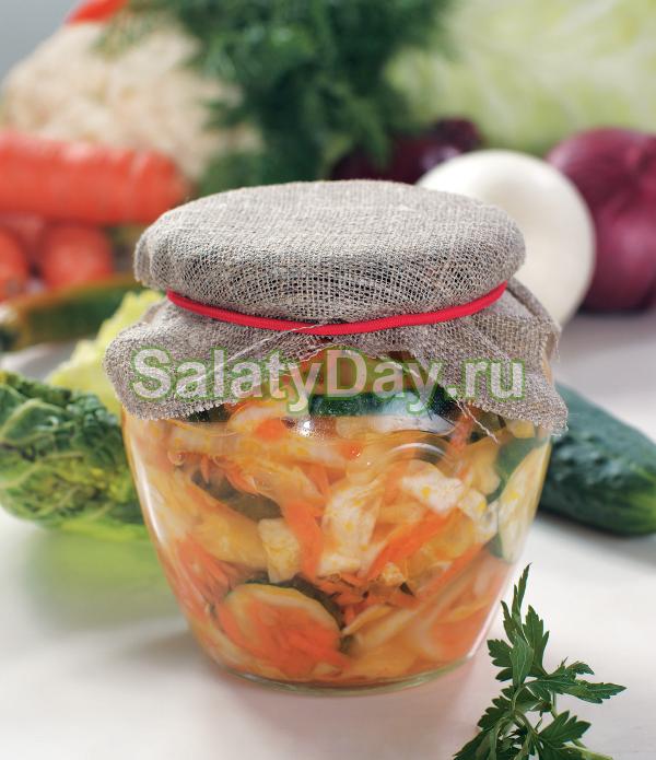 Капустный салат на зиму