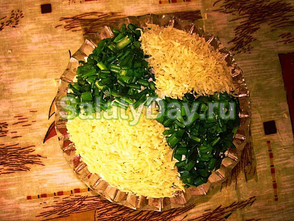 Салат Мужской каприз с ветчиной и грибами