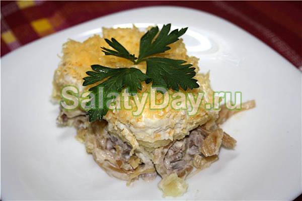Салат Мужской каприз с телятиной