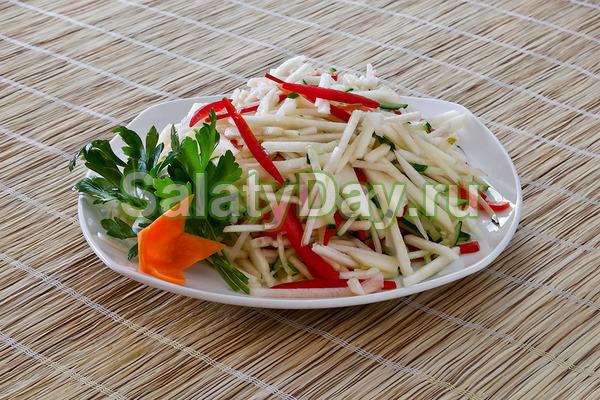 Салат из китайской капусты с яблоком рецепты с