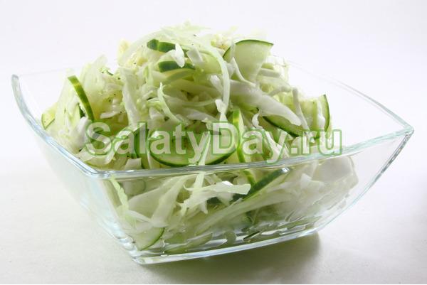 Салат «Китайская капуста +русский огурец»