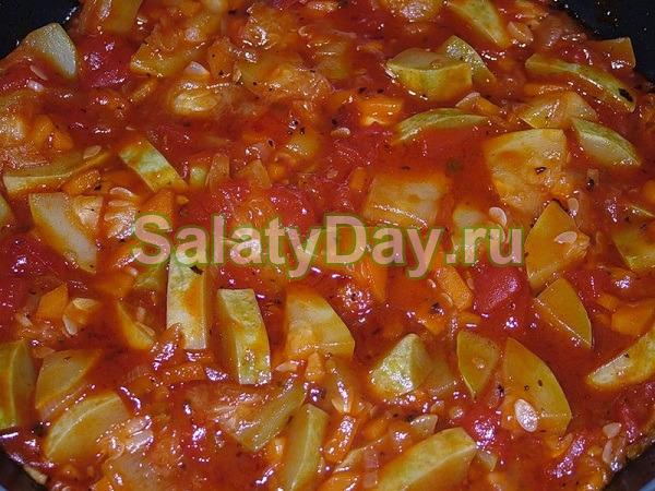 Кабачки в томатной пастой на зиму рецепты