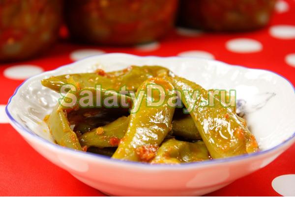 Овощи с фасолью и баклажанами на зиму рецепты
