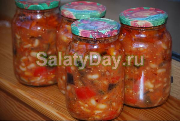 Салаты из помидор на зиму рецепты на литровую банку