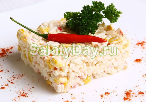 Салат «Нежность» с рисом
