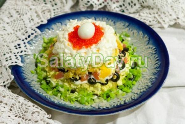 Салат жемчужина рецепт с с икрой с семгой