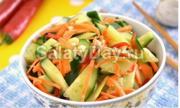 Пикантный китайский салат «Янг бан хуанг гуа»