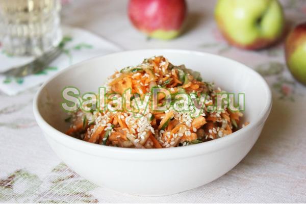 Яблочный китайский салат
