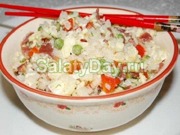 Китайский рисовый салат