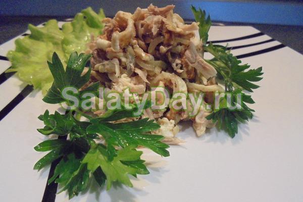 Салат из яичных блинчиков «Министерский»