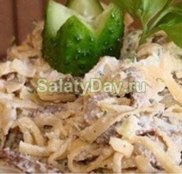 Салат с яичными блинчиками « italiana insalata (классический)»