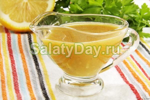 Соус для салата цезарь с медом