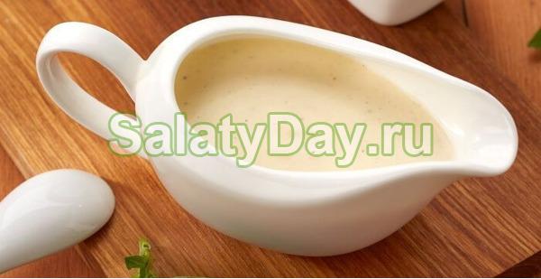 Соус к салату цезарь сметанный