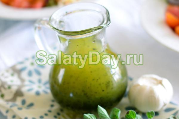 Заправка для греческого салата с бальзамическим уксусом