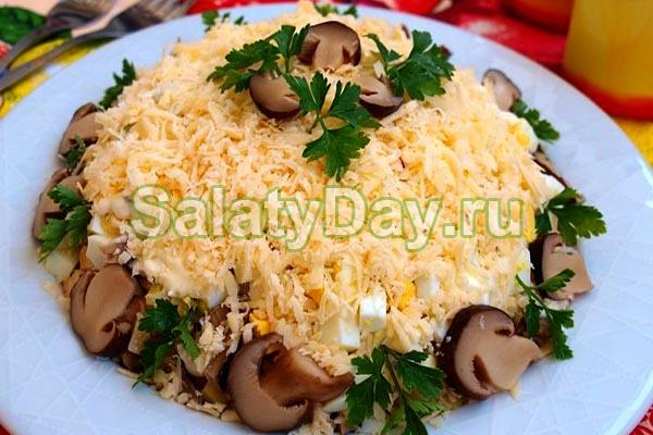 Рецепты салатов с с грибами