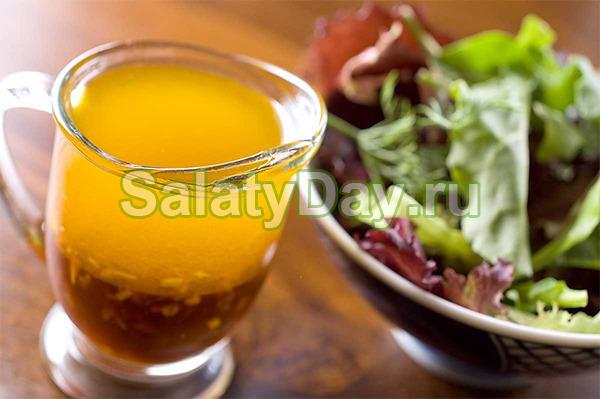Горчичная заправка для салата с йогуртом