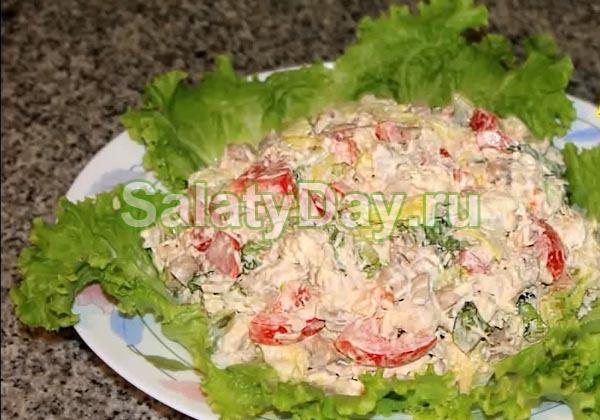 рецепты салатов с шампиньонами и чесноком