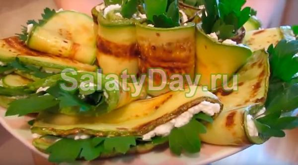 Закуска из кабачков на праздничный стол - минимальные денежные затраты: рецепт с фото и видео