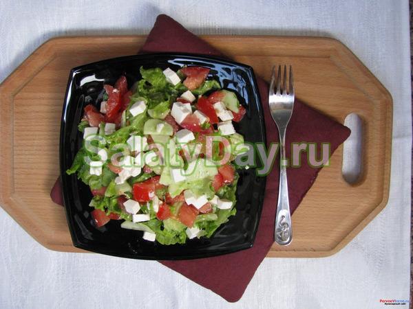 Салат с сыром «Фета» и свежими овощами