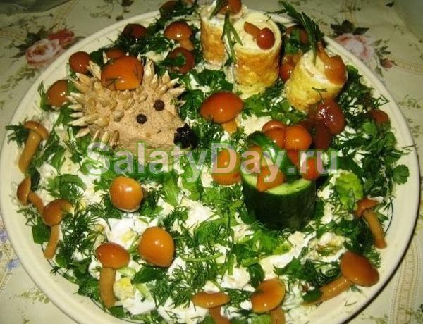 сказочная поляна салат рецепт с оливками