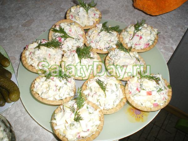 Оригинальные салаты и закуски в тарталетках рецепты с фото