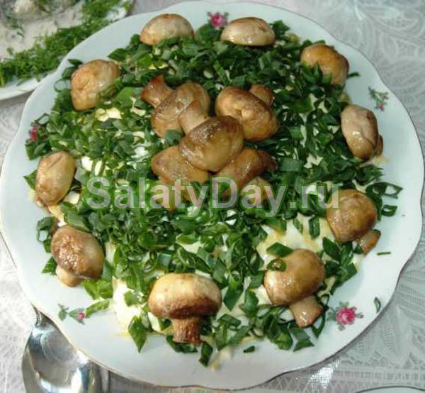 лесная поляна салат рецепт слоями