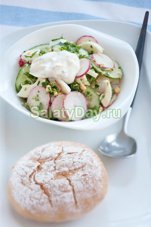 Салат Весенний со свежими овощами