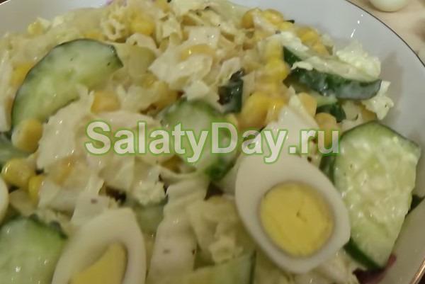 Салат весенний с йогуртовой заправкой