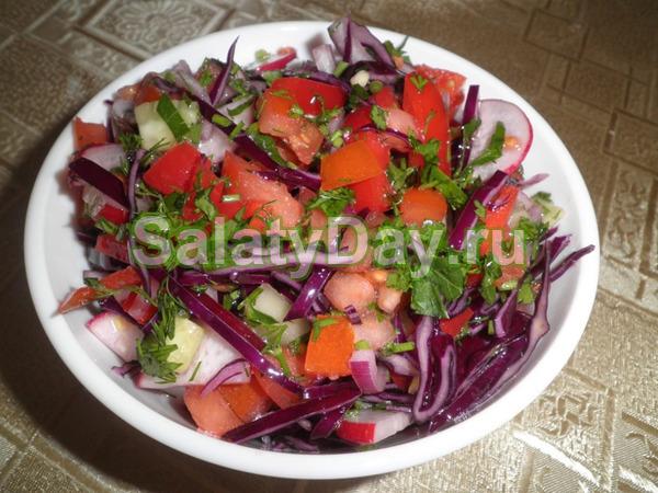 Салат Весенний из овощей