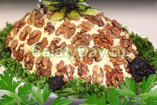 Слоеный салат черепаха фото
