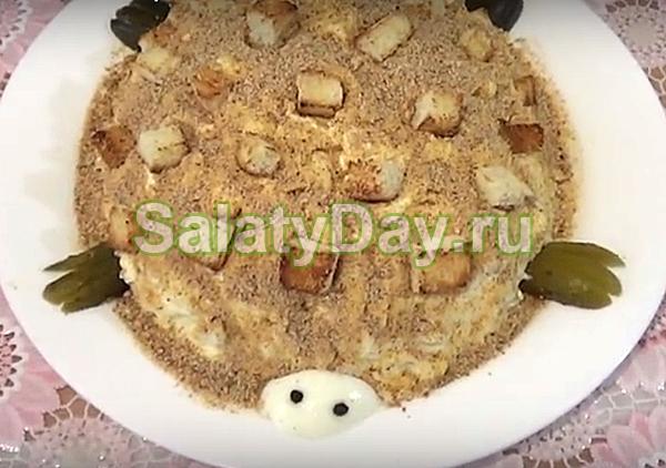 Салат Черепаха с картошкой