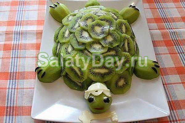 Салат Черепаха с киви