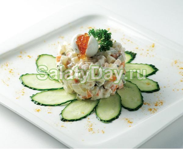 Салат столичный с курицей рецепт классический