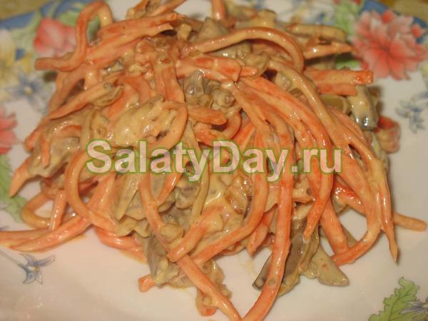 Салат теплый - простой